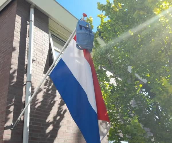 De vlag kan op veel plekken uit