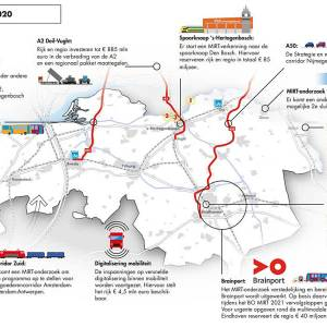 Honderden miljoenen voor verbreding A2 en aanpak treinstations