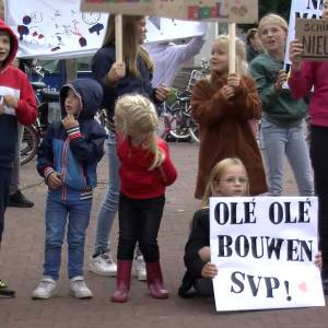 Eerdse kinderen protesteren voor nieuwe school