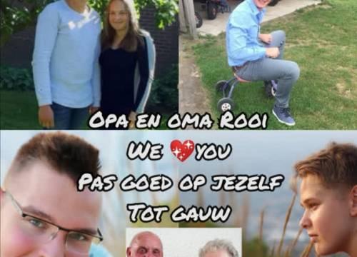 Groetjes aan opa en oma Rooi