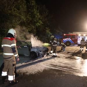 Auto uitgebrand op carpoolplaats