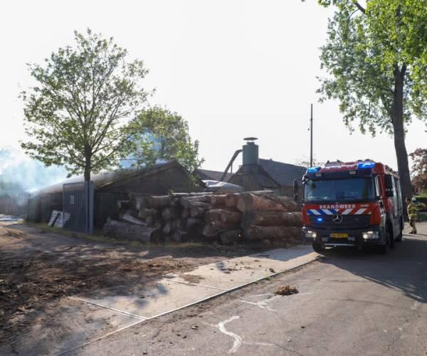 Mogelijk asbest vrijgekomen bij brand klompenmakerij Schijndel