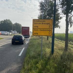 Afsluiting A-50 zorgt in Veghel voor verkeersoverlast