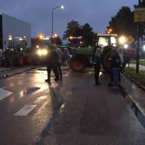Boeren protesteren bij Jumbo