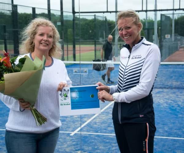 Tennispark De Krekel feliciteert 250ste zomerlid