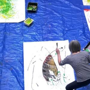 Action painting bij Phoenix Cultuur