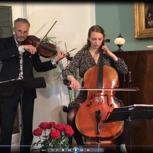 Altviool, cello en piano in Uurtje Klassiek
