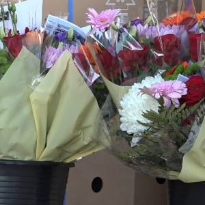 Ambtenaren op pad als bloemenbezorger