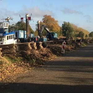Vernieuwing damwanden Zuid Willemsvaart in volle gang