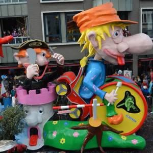 Grote belangstelling voor carnavalsoptocht door Kuussegat