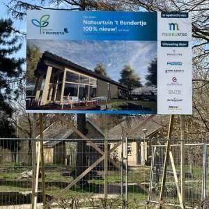 Natuurtuin 't Bundertje start met nieuwbouw