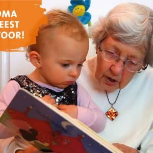 Grootouders geven leesplezier door aan peuters