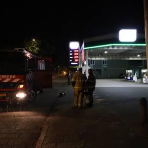 Gaslek bij tankstation in Schijndel