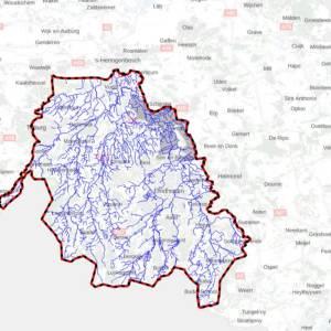 Grondwaterpeil Dommelgebied in het rood