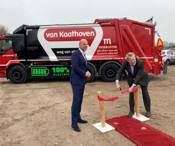 Eerste elektrische vuilniswagen in Meierijstad