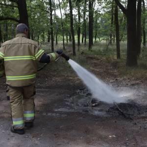 Politie en brandweer grijpen in bij beginnende brand op kurkdroge Vlagheide